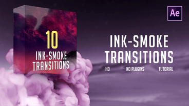 Ink-Smoke Transitions Plantilla de After Effects