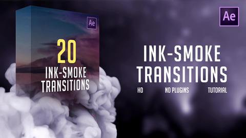 Ink-Smoke Transitions After Effects Template