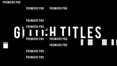 Glitch Titles Split 4K Premiere Pro Template