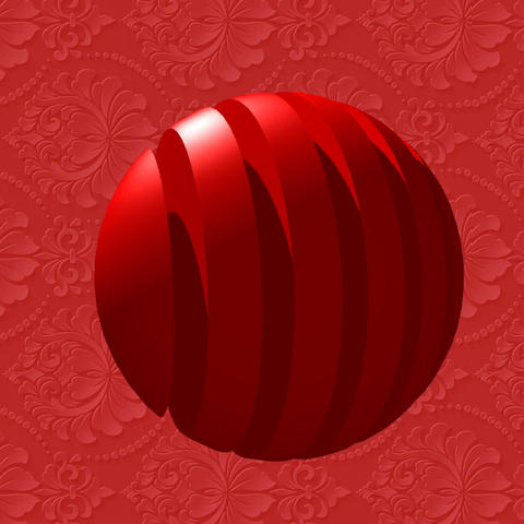 RED DRAGON LUCKY ROLLING BALL ROLL Square GIF
