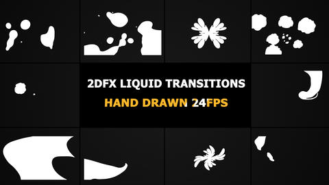 2D FX Liquid Transitions Motion Graphics Animation