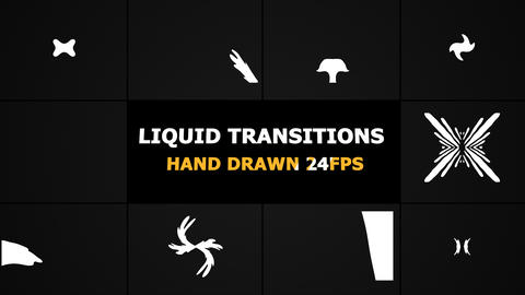 Liquid Transitions Motion Graphics Pack Animation