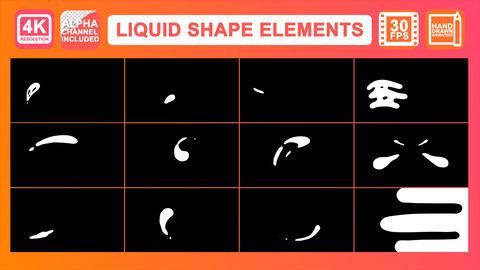 Liquid Shape Elements Motion Graphics Pack Animation