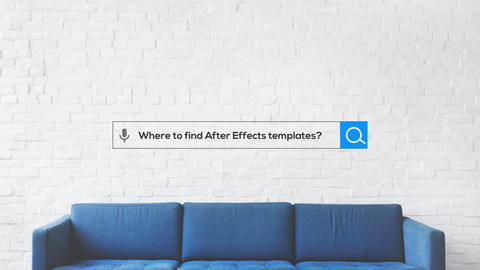 Search Logo Animation After Effects Template