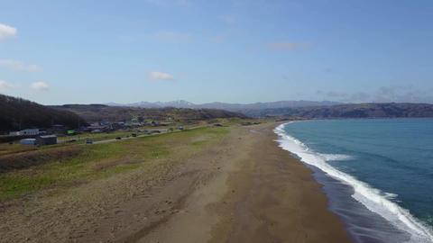 長く続く砂浜 ビデオ