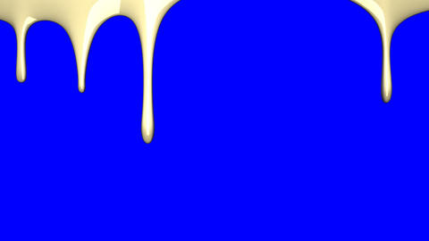 Beige liquid on blue chroma key Animation
