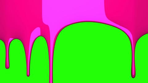 Pink liquid on green chroma key 動画素材, ムービー映像素材