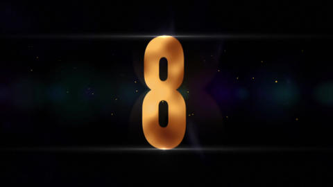 Gold Countdown Animation