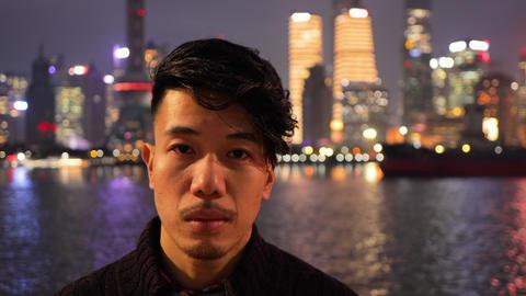 Chinese man in Shanghai China GIF