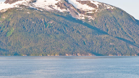 Time-lapse view from a cruise ship turning near the Haines, Alaska port Footage