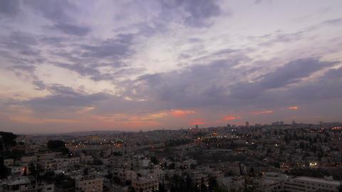 Sunset time-lapse of Jerusalem from the BYU Jerusalem center Footage