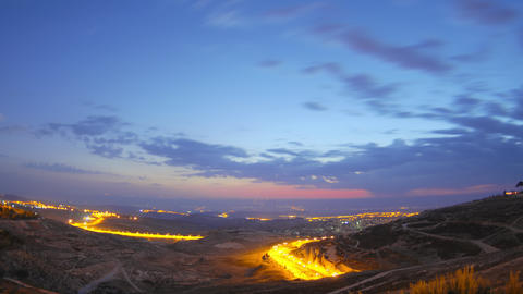 Time lapse of dawn breaking over Jordan Footage