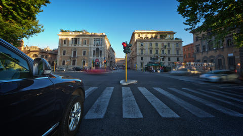 Time-lapse of a busy street in Rome Footage