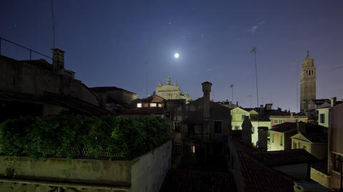 Roof tops of Venice time-lapse Footage