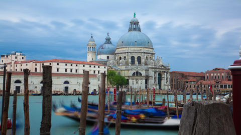 Time-lapse of Santa Maria della Salute from Saint Mark's Square Footage
