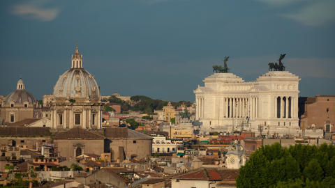 Time-Lapse of the Vittoriano and Saint Andrea della Valle Footage