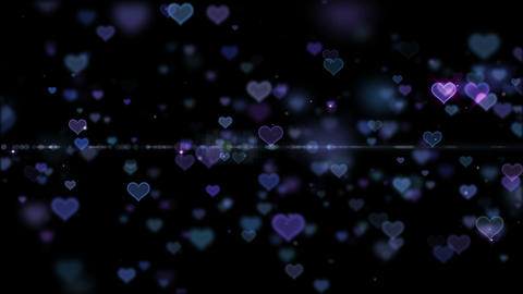 Lens Flares and Particles 16 heart B 4k CG動画
