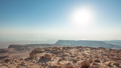 Daytime time-lapse at Masada, Israel Live Action