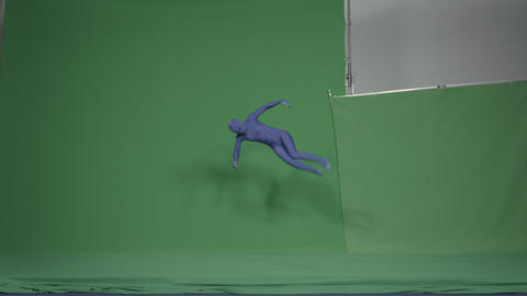 Slow motion green screen shot of a woman doing a variety of movements Footage