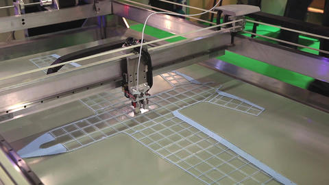 3d printer printing. Close up process of new printing technology Footage