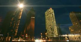 4K, Time Lapse, Potsdamer Platz At Night, Berlin - cinematic version Footage
