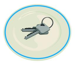 Key on the plate Vector