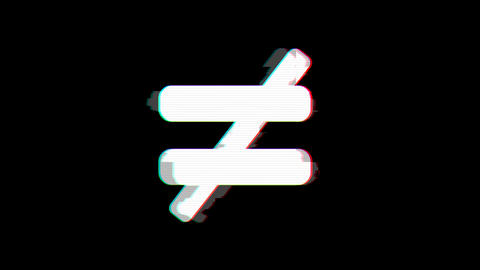 From the Glitch effect arises not equal symbol. Then the TV turns off. Alpha channel Premultiplied - Animation