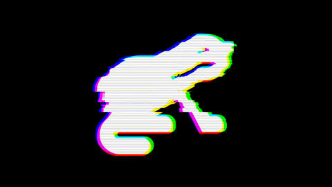 From the Glitch effect arises otter symbol. Then the TV turns off. Alpha channel Premultiplied - Animation