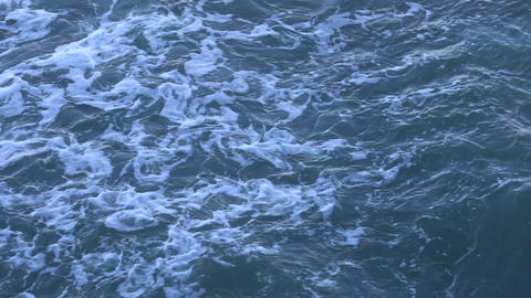 coastal waves among rocks Footage