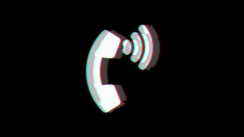 From the Glitch effect arises phone volume symbol. Then the TV turns off. Alpha channel Animation