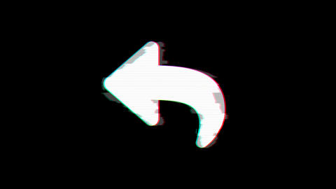 From the Glitch effect arises reply symbol. Then the TV turns off. Alpha channel Premultiplied - Animation