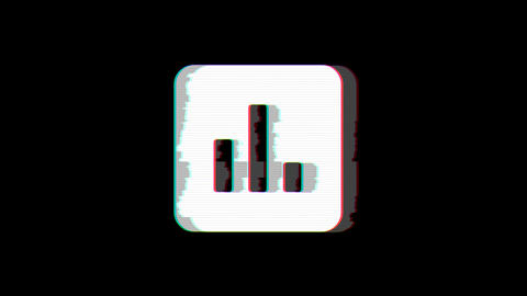 From the Glitch effect arises poll symbol. Then the TV turns off. Alpha channel Premultiplied - Animation