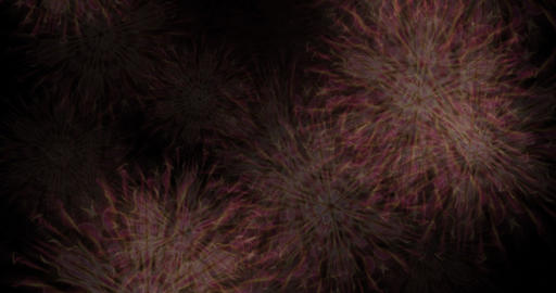 Abstract Particle Animation of psychedelic Pattern Stock Video Footage