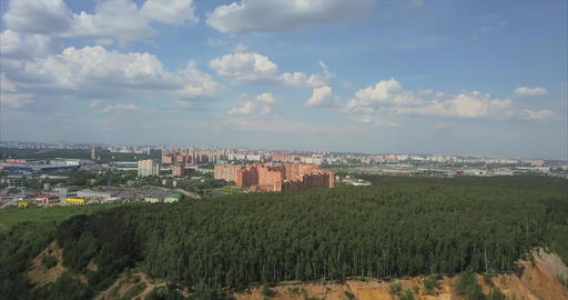 Aerial view of Moscow landscape at summer Footage