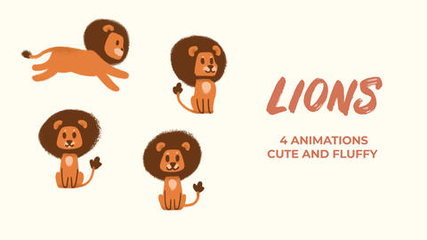 Lions Hand Drawn Pack After Effects Template