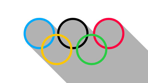 Olympic rings - olympiad flat icon. PNG format with ALPHA transparency channel Archivo