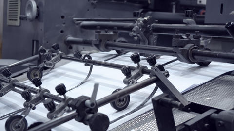 working machine on print factory Footage