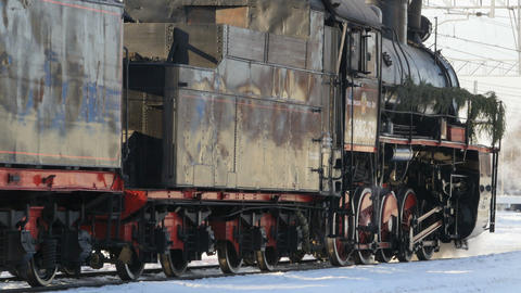 black steam locomotive Footage
