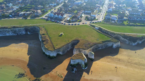 Flight over Botany Bay with its white cliffs in Kent Live Action