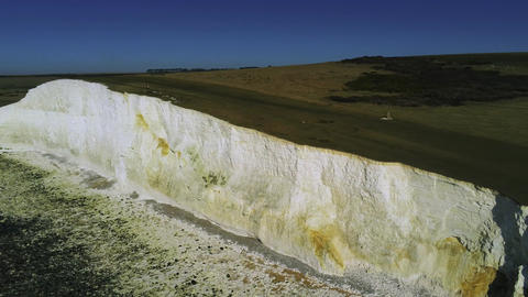 The White cliffs of Seven Sisters from above Live Action