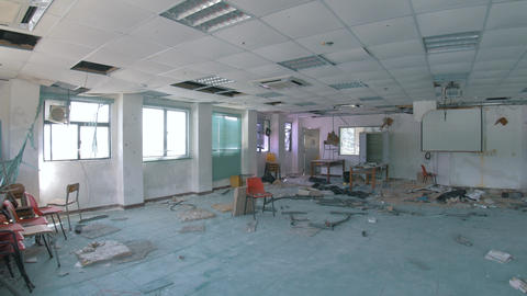 Abandoned School - Destroyed Classroom Footage
