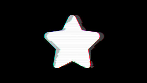 From the Glitch effect arises star symbol. Then the TV turns off. Alpha channel Premultiplied - Animation