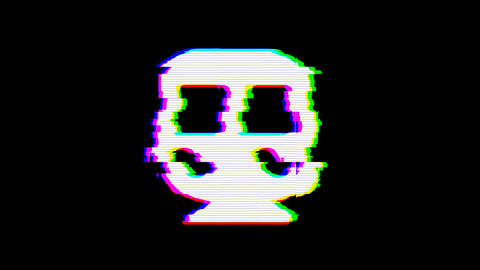 From the Glitch effect arises subway symbol. Then the TV turns off. Alpha channel Premultiplied - Animation
