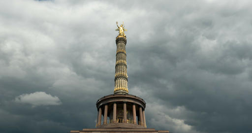 4K, Time Lapse, Victory Column, Berlin Live Action