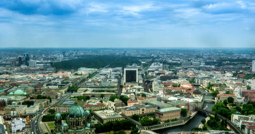 4K, Time Lapse, View From Berlin TV Tower, Berlin Footage