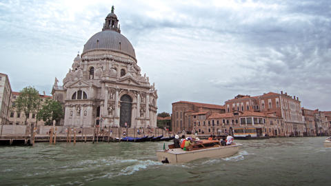 Slow motion tracking shot of Santa Maria della Salute Footage