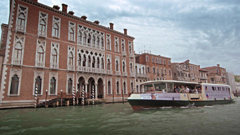 Slow motion, tracking shot of Grand Canal scenery Footage