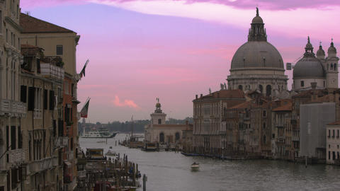 Slow motion shot of Santa Maria della Salute and the... Stock Video Footage