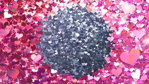Glitter Heart Frame 2 Ch Pink Flash 4k GIF