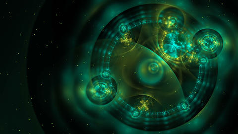 Abstract colorful loopable fractal background in green color Animation